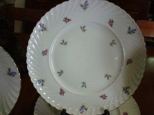 294: 63 Piece KONIGL.PR.TETTAU Bavarian Floral China: - 2