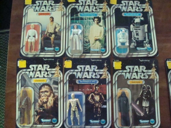 378:  ALL 12 12-Back Star Wars Action Figures, Mint in - 2