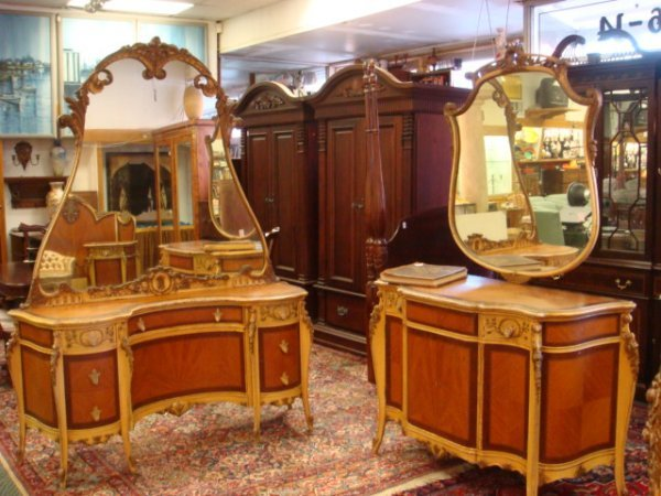 271A: Late 19th C French 6 Piece Bedroom Suite: