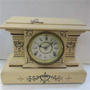 Seth Thomas Mantle Clock with Key: