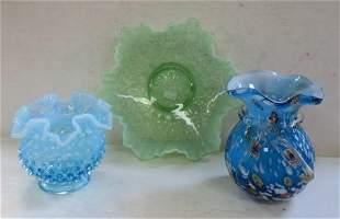 Three Pieces of Interesting Art Glass: