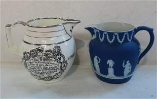 Two Vintage Ceramic Pitchers, Made in England: