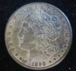 1898-O MORGAN 90% Silver Dollar MS63 Very Toned: