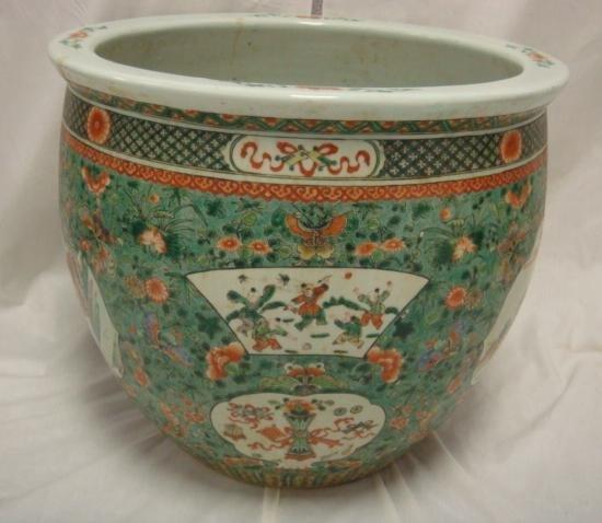 2: Large Stoneware Oriental Koi Bowl: