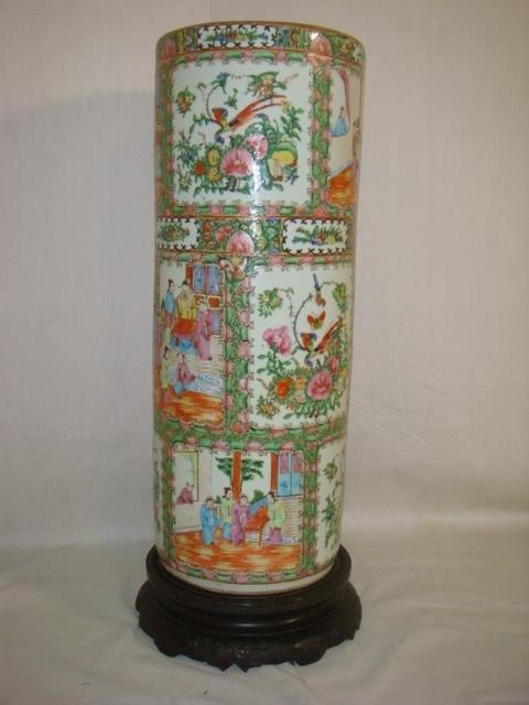 6: Rose Medallion Ceramic Umbrella Stand: