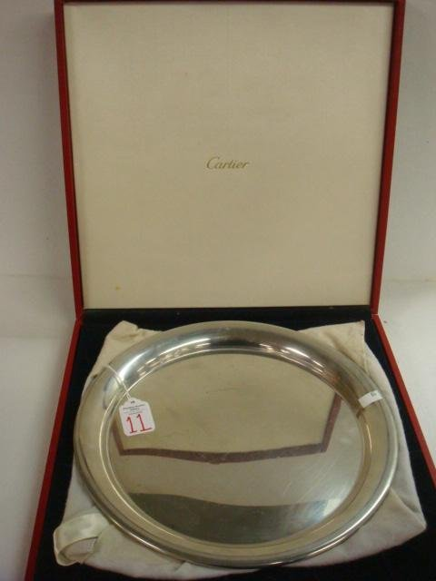 "11:  CARTIER Pewter 11"" Plate in Original Box:"