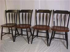 38 Set of 4 Hitchcock Reproduction Side Chairs