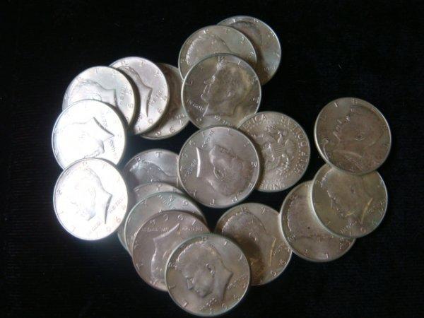 15:  20 1964 KENNEDY HALF DOLLARS, Uncirculated Conditi