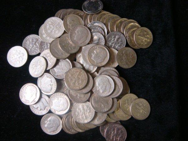 19: 66 Silver ROOSEVELT Dimes + 33 Clad Dimes: