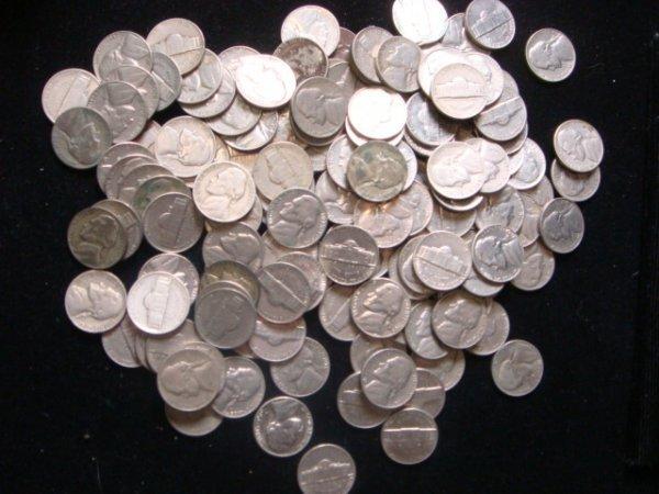 22: 4 Rolls of Pre 1960 Nickels: