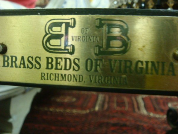 178: BRASS BEDS OF VIRGINIA King Size Ornate Bed: - 3