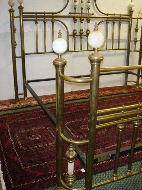 178: BRASS BEDS OF VIRGINIA King Size Ornate Bed: - 5