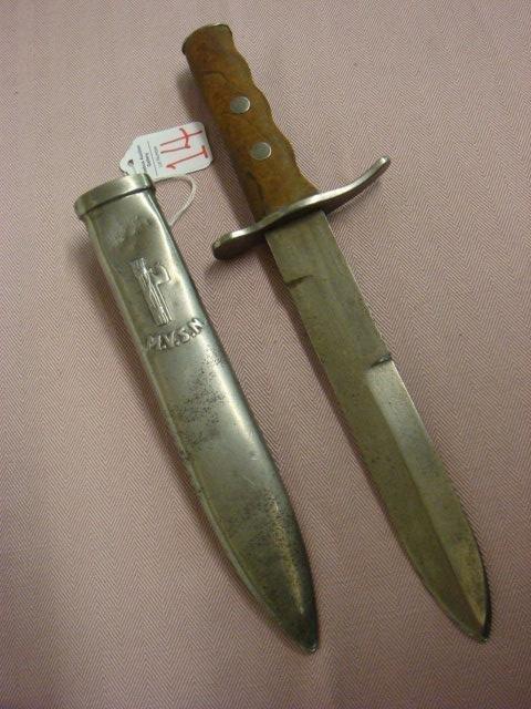 14: Italian MVSN Blackshirt Dagger/Fighting Knife: