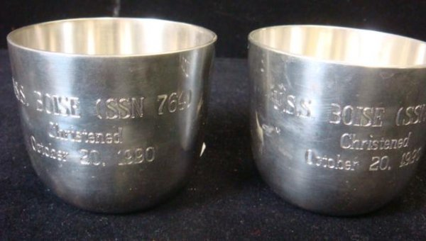 58: 2 USS BOISE (SSN 764) Christening Cups: