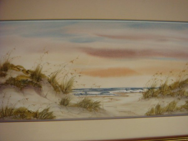 76: Signed NANCY TUTTLE MAY Watercolor Beachscape: - 2