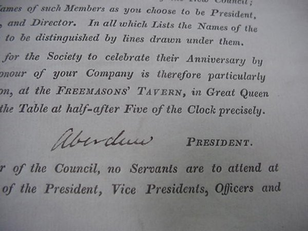 1: Lord George Gordon, Autograph, 1841  Autog