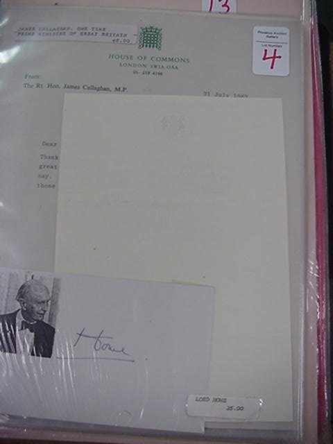 4: Lord Home and James Callaghan, Autographs