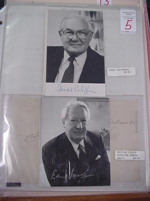 5: Edwin Heath & James Callaghan, Autographs