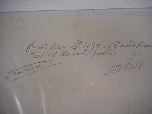 6: Viscount Charles Townshend Autograph  1674