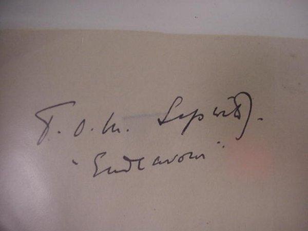 8: Sir Thomas Sopwith, Autograph  British Air