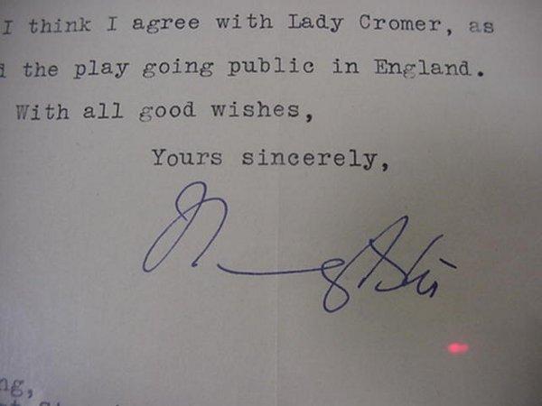 9: Nancy Astor Autograph, 1929  First Woman t