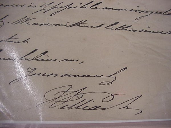 11: William IV, Royally, Autographed Letter