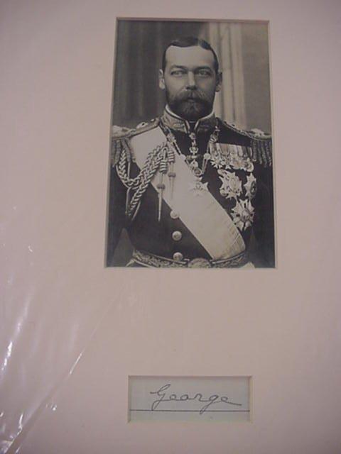13: George V, King of England, Autograph  Sig