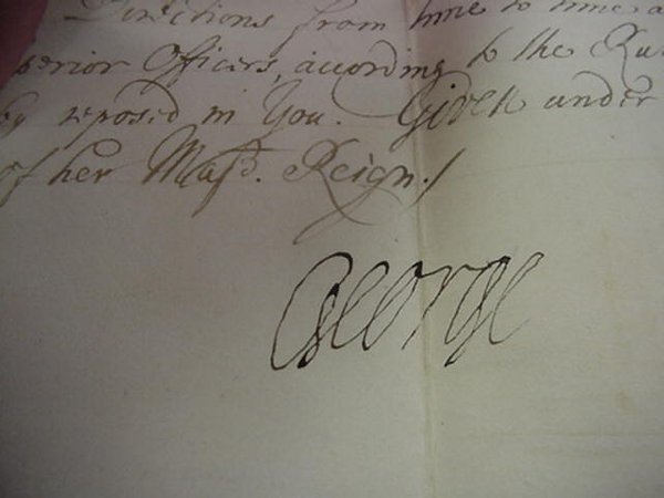 15: George of Denmark, Autograph on Commissio