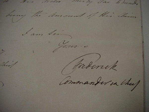17: Frederick Duke of York and Albany  Signed
