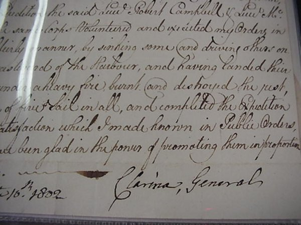 21: Baron Clarine, Signed Military Letter  18