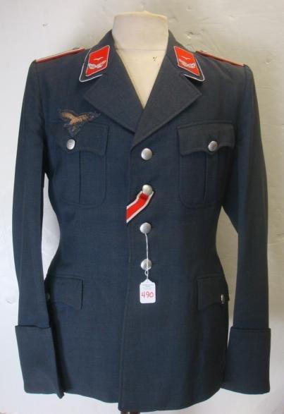 490: Luftwaffe Flakartillerie Lieutenant Dress Blouse: