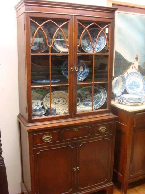 15 1930 S Mahogany Duncan Phyfe Small China Cabinet