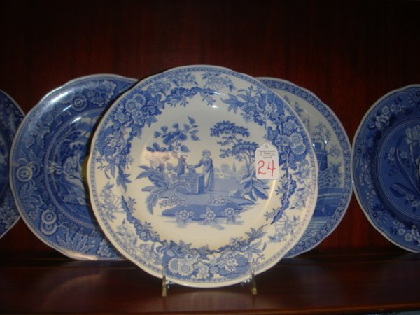 24: 7 SPODE Blue Room Collection Plates: