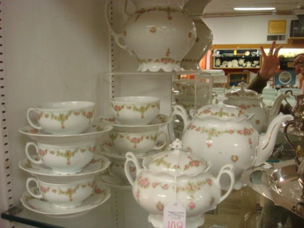 109: MZ AUSTRIA 15 Piece Rose Chintz Tea Set: