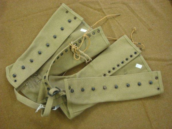 10: M-1938 US ARMY Leggings, Size 2-R: