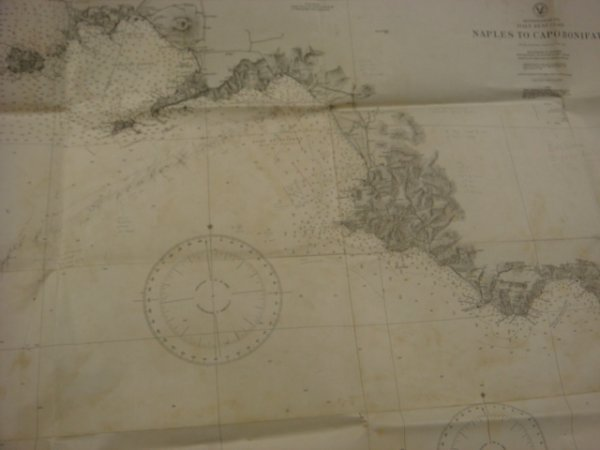 14: 5 Actual Naval Charts of Salerno, Guam & Kume Shima