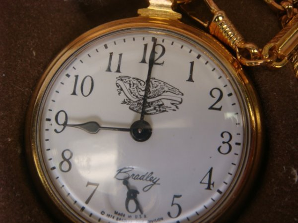 70: Bradley Seventy Six Bicentennial Pocket Watch Set: - 2