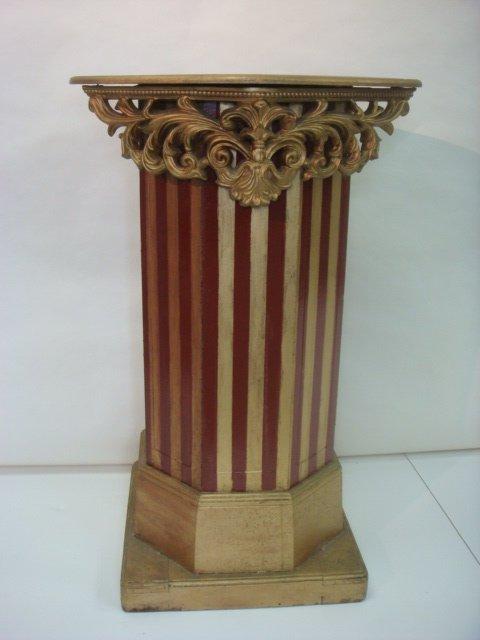 8: Decorative Wooden Gilt Display Pedestal: