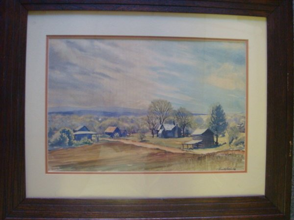 9: KENNETH HARRIS Original Landscape Watercolor, Framed