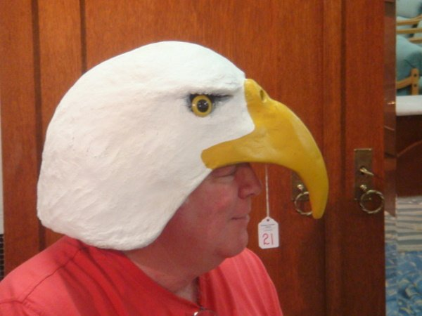 21: Artist Signed WIMSATT Paper Mache Eagle's Head: