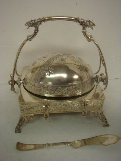 105: Figural REED & BARTON Silverplate Victorian