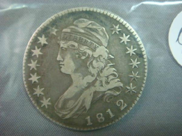 320: 1812 US Capped Bust Silver Half Dollar: