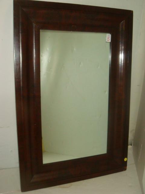 5: 1880 Mahogany Ogee Mirror: