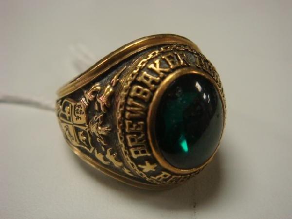 9: BREWBAKER ACADEMY 1976 Class Ring: