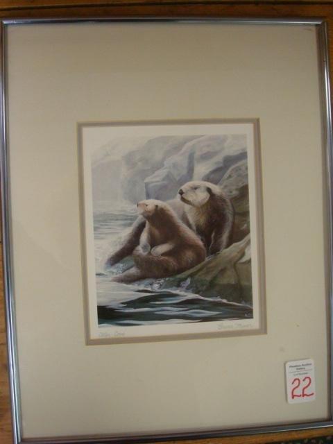 22: Signed BRUCE MUIR Otter Print: