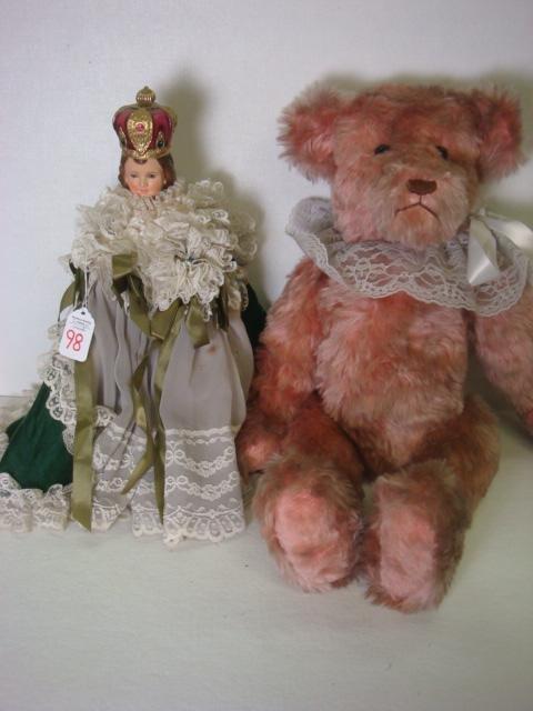 98: COLUMBIA STATUARY Infant of Prague Figure and Bear: