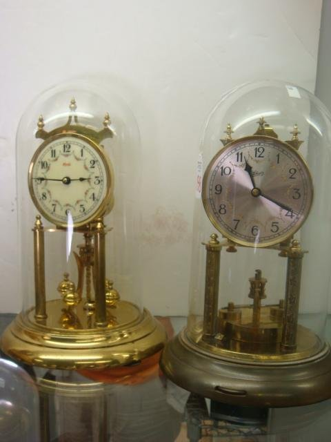 198: 2 SCHATZ & KUNDO German Anniversary Clocks: