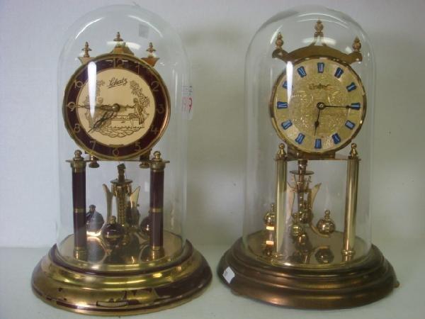 199: 2 WELBY & SCHATZ German Anniversary Clocks: