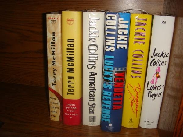 8: 4 JACKIE COLLINS AND 2 TERRY McMILLAN 1st Editions: