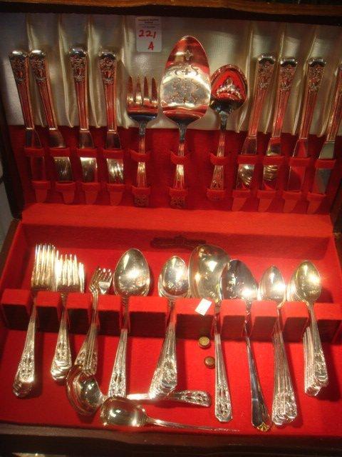 221A: HARMONY HOUSE AA+ Silver-plate Flatware, Service